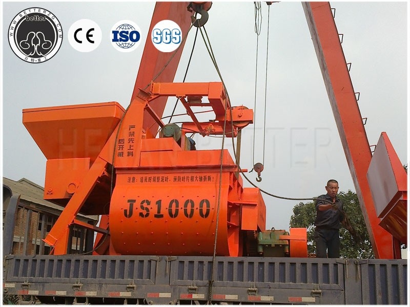 special offer of js series twin shafts concrete mixer