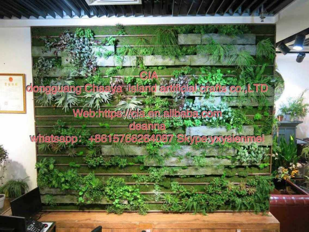 CIA artificial green grass wall/fence for decoration