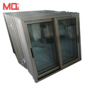 aluminum frame is champagne color windows sliding glass window