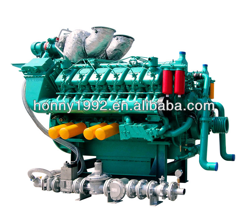 High Energy Efficient Natural Gas and Diesel Generator set Dual Fuel