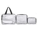 2017 New 3PCS Transparent Cosmetic Bag PVC Travel Toiletry Bags Makeup Bags Cosmetic Organizer Beautician Bag 3 Size