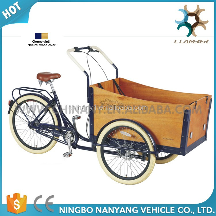 3 wheel retro cargo bike/tricycle for adults UB9032