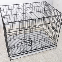 Pet Foldable Crate Welded Mesh Easily Assembled Dog Kennel Wire
