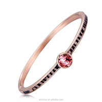 Crystal Clear Gold Bangle Bracelet Jewelry, Fashion Women Accessories