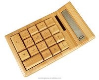 Wholesale solar bamboo calculator handmade bamboo craft calculator