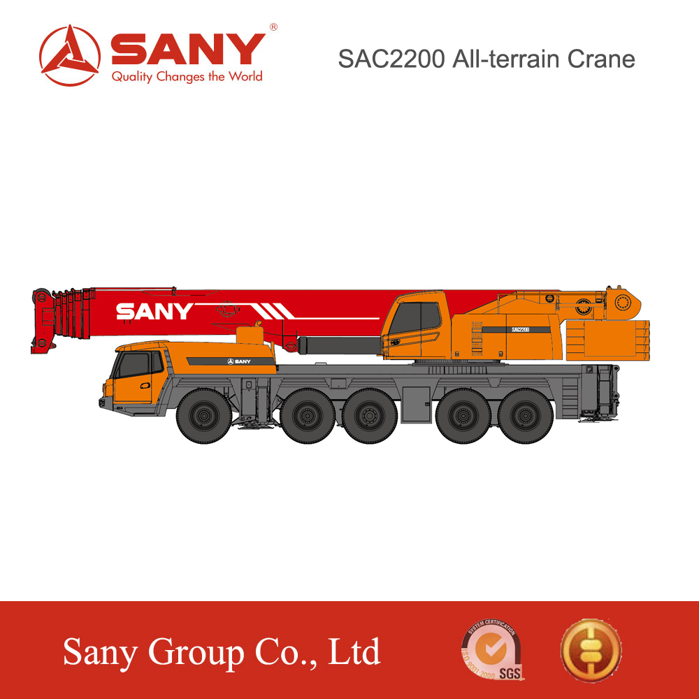 SANY SAC2200C 220 Ton Energy-Saving of Heavy Mobile Crane for Sale in Malaysia