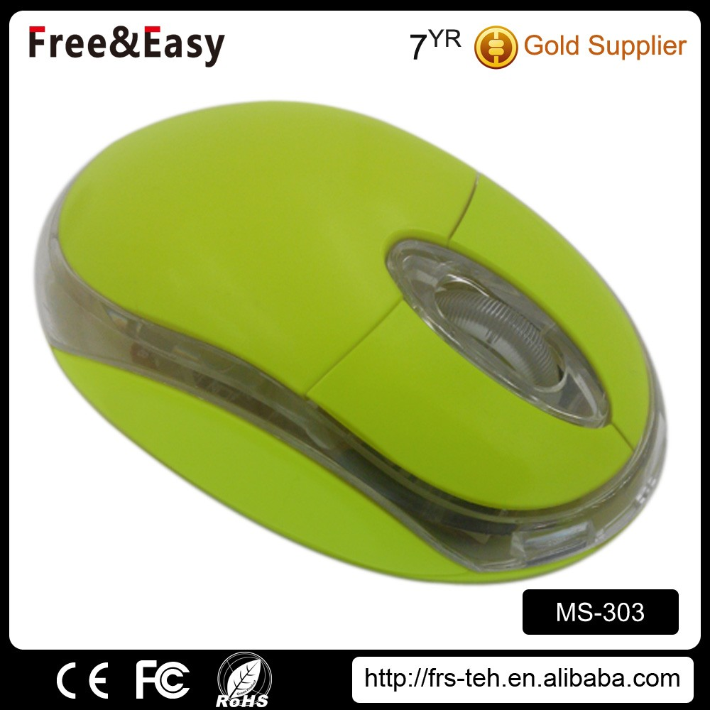 Mini led 3d wired optical mouse