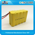 12V Ni-Cd AA 800mAh rechargeable battery pack for medical devices