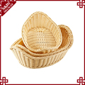 New bulk cheap food display baskets hand woven unique wicker baskets wholesale