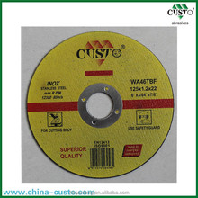 2016 New Abrasive thin metal discs/cutting wheel for stainless steel/ cut-off wheel for stone
