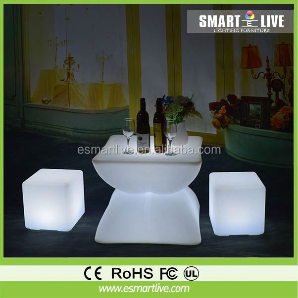 Rotational Molding seat remote control multi color changing led cube lighting rechargeable Floating pool lights