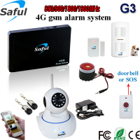 Control via SMS or Phone calls or Free APP gsm wireless home burglar security alarm system/Free disturb evening/Home/Emergency