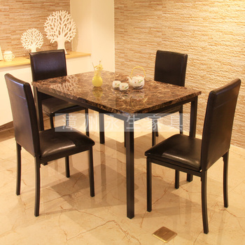 Marble design dining table set mdf top dining table new for New model dining table