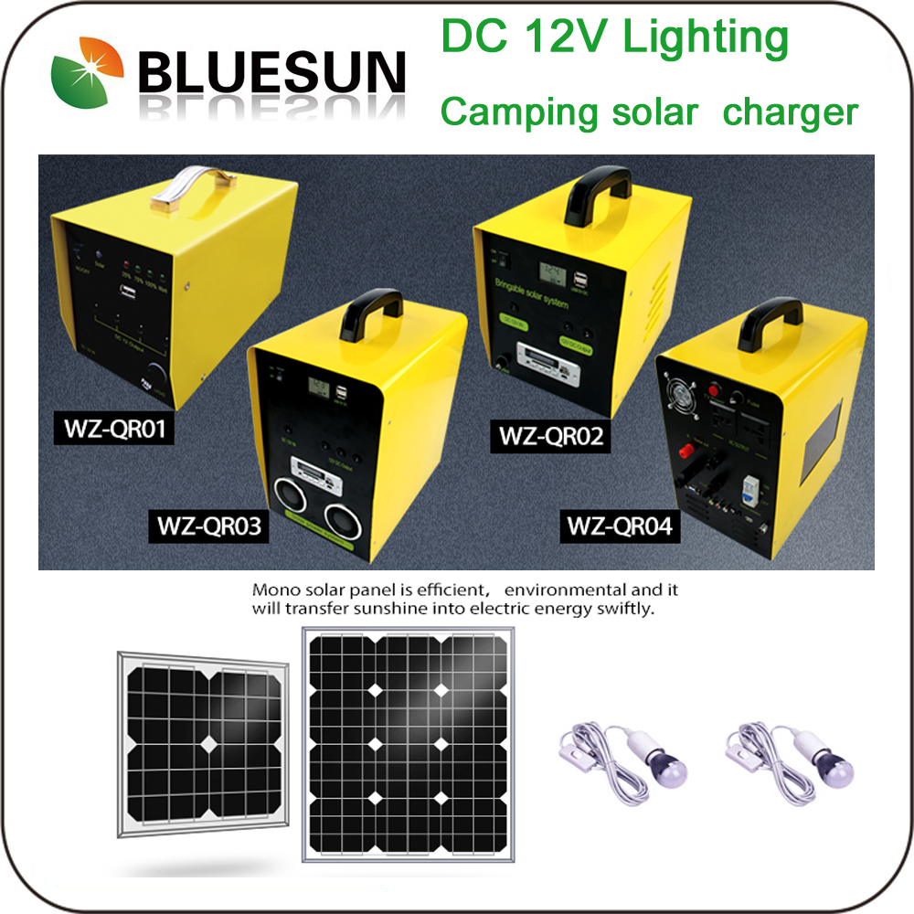 bluesun 100w portable solar electricity home system