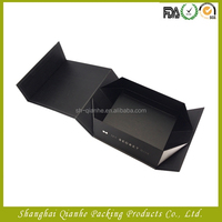 Matte Black Apparel Storage Folding Magnetic Closure Gift Box