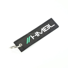 custom cool embroidered keychain hotel key tag wholesale made in china