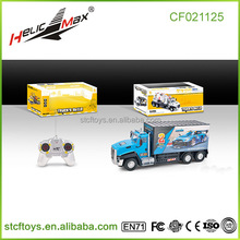 1/32 2.4ghz rc car 4ch electric rc toy container truck remote control car simulation model truck with light