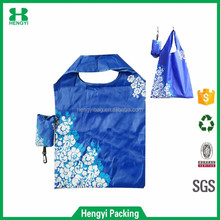 OEM welcomed custom design 210T polyester foldable shopping tote bag, cheap and durable