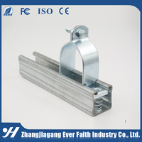 Metal Galvanized Conduit Rigid Epdm Lined Split Pipe Clamp