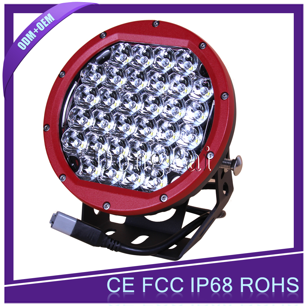"Red/Black Round 9"" 96W LED Driving Spot/Flood Work Light 4WD Offroad 12V 24V SAE LED Work Light"