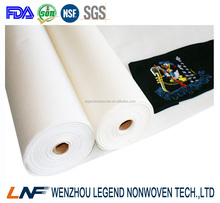 100% recycle cotton tear away embroidery backing paper