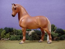 Porcelain Ceramic Horse Sculpture Limited Edition Chestnut Pony