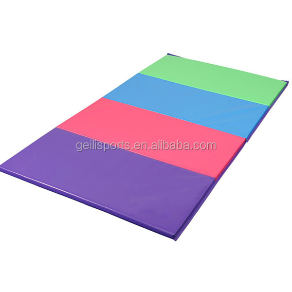 "1.5'' and 2""thick folding gymnastics equipment mat for yoga"