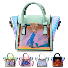 Designer Women Shiny Hologram Holographic Handbag Shoulder Bag Crossbody Bag For Young Lady