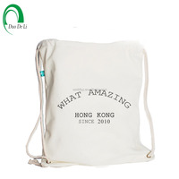 High Quality Cotton Drawstring Dust Covers Shoe Bags, Plain Eco Cotton Bags for Students