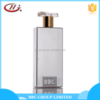 BBC Metallic Series - MF012 Cheap new design elegant silver glass bottles natural body spray perfume