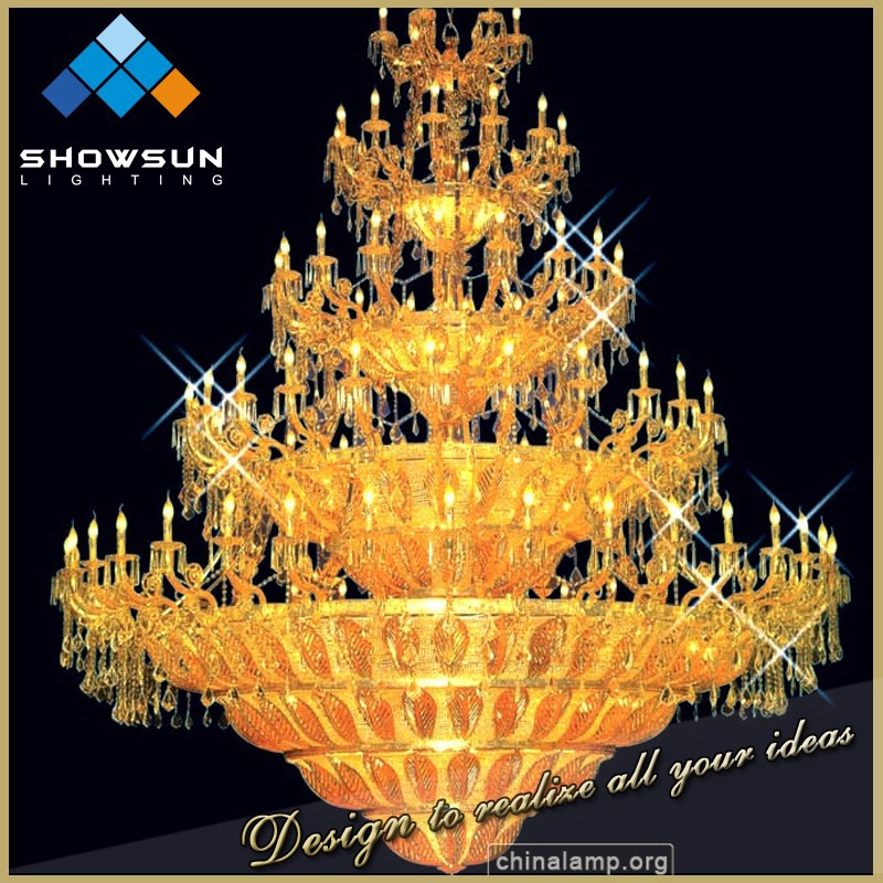 Marie therese zinc alloy arm large hotel decoration lights