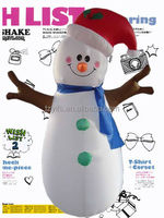 2015 new design Big giant snowman Inflatable Christmas decorations
