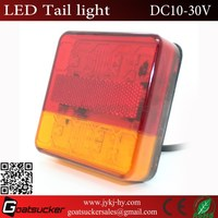 Red Amber led stop turn light small size square led turn indicator tail light