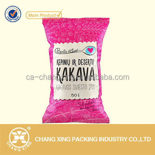 Custom printed metallized food grade snack/crisps/biscuits/chocolate candy plastic packaging bags (up to 10 colors)