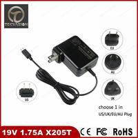 Professional charger adapter 19v1.75a 33w china supplier for asus eeebook x205 x205t x205ta
