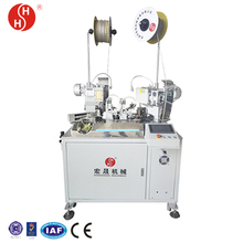 wiring harness processing Full-Automatic two cables joint crimping machine Automatic tube cutting machine HS-65310