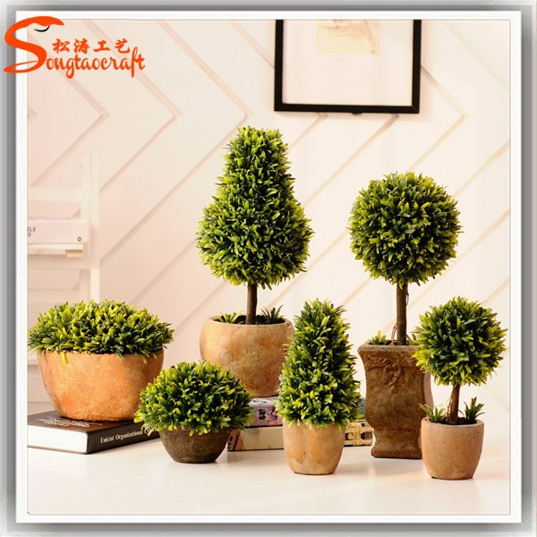 2016 plastic artificial topiary boxwood topiary balls ornamental plants for indoor
