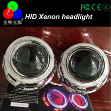 Very Popular d2s led headlights new bi-xenon HID projector h4 2.5 Inch With Hid Bulb Ccfl Halo And Inverter