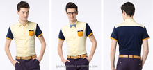 Men's discount mixed color knitted shirts with short sleeves