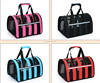 factory direct sale hot good airy outdoor striped pet carrier bag dog handbag