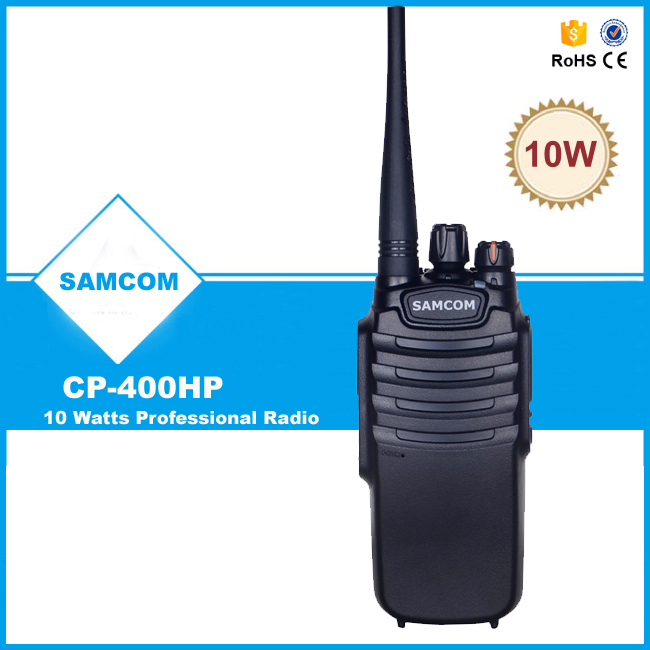 100 mile walkie talkie SAMCOM 10W CP-400HP with FCC Approval,big battery capacity 3600MaH