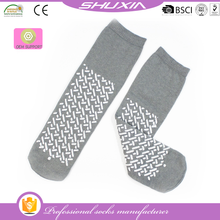 SX-1770 slipper socks with rubber sole for adults