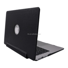"Wholesale 3D PU Leather Sleeve Protective Shell Case for Apple Macbook Air 11"" Case, Black"