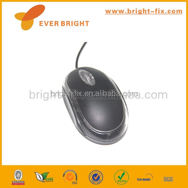 Bulk Cheap optical best Computer Mouse Black Mini Wired Mouse For sale
