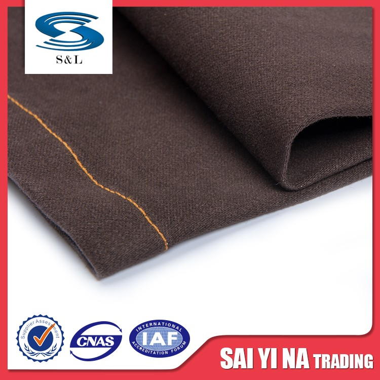 Fair trade polyester spandex blend stretch cotton textile fabric for dress pant