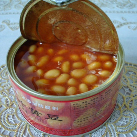 Fast food canned food / canned vegetable white beans in tomato for sale