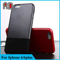 Full cover genuine leather case for iphone 6 6plus, real leather 360 degree protective phone case