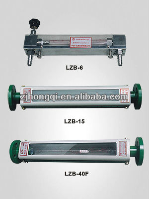 Glass water meter rotameter with clear wimble tube cheap price