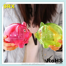 Unbreakable transparent piggy money box, OEM Clear Piggy Bank as Chrismas gift, OEM plastic money save box Manufacturer