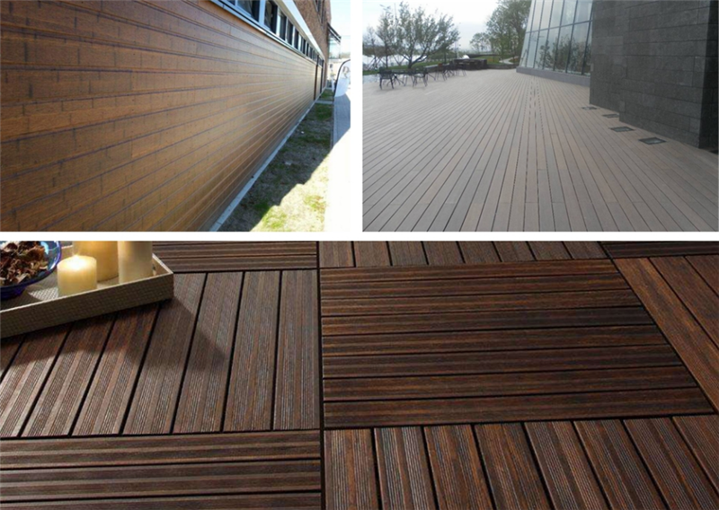 Multiple application bamboo flooring bamboo wall cladding